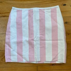 Madewell Pink Striped Skirt 00 NWT